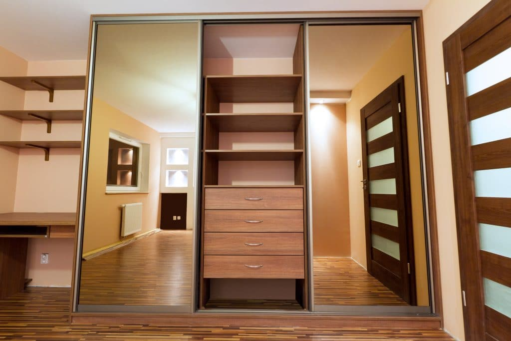 Built-in shelving unit for reach-in closet in Wilmington
